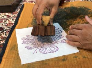 インド ジャイプール ブロックプリント